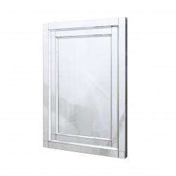 Prostokątne lustro dekoracyjne w ramie lustrzanej Nina 80x120