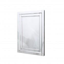 Prostokątne lustro dekoracyjne w lustrzanej ramie - Nina 70x100
