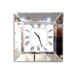 Kwadratowy, lustrzany zegar ścienny AH-5081