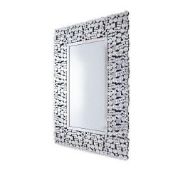 Prostokątne lustro dekoracyjne w lustrzanej ramie - Bell
