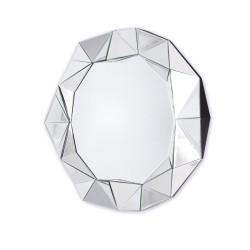 Okrągłe lustro dekoracyjne w ramie lustrzanej - Blanka