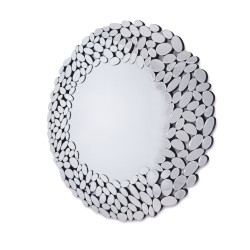 Okrągłe lustro dekoracyjne w ażurowej ramie  - Grace
