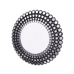 Okrągłe lustro dekoracyjne w ażurowej ramie  - Ines C