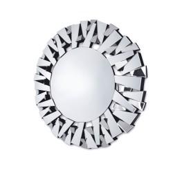 Okrągłe lustro dekoracyjne w ramie lustrzanej - Ness