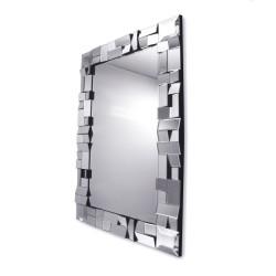 Prostokątne lustro dekoracyjne w fazowanej ramie lustrzanej -  Zuza