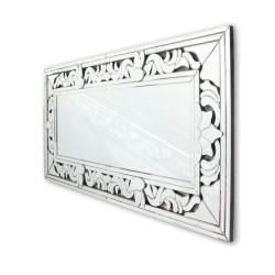 Prostokątne lustro dekoracyjne w ramie lustrzanej - Claris