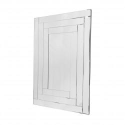 Prostokątne lustro dekoracyjne w ramie lustrzanej - Penelopa