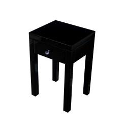 Lustrzany stolik nocny Vera - czarny