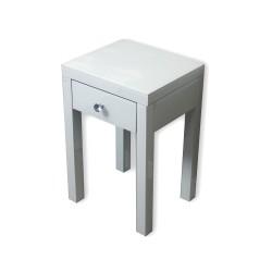 Lustrzany stolik nocny Vera - biały