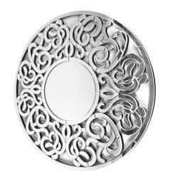 Okrągłe lustro dekoracyjne w ażurowej ramie  - Altea