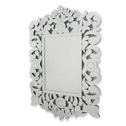 Eurydyka - prostokątne lustro dekoracyjne w ażurowej ramie lustrzanej