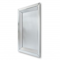 Tetyda 90x180 - prostokątne lustro dekoracyjne w lustrzanej ramie