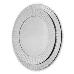 Okrągłe lustro dekoracyjne w ramie lustrzanej - Kleo