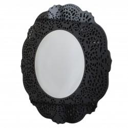 Orsini - okrągłe lustro dekoracyjne w ażurowej ramie lustrzanej