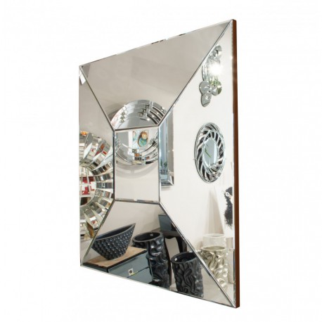 Alcamo - kwadratowe lustro dekoracyjne w ramie lustrzanej