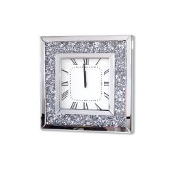 Kwadratowy, lustrzany zegar ścienny AH-5085 Alviano