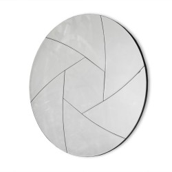 Pallotta- okrągłe lustro dekoracyjne w ramie lustrzanej