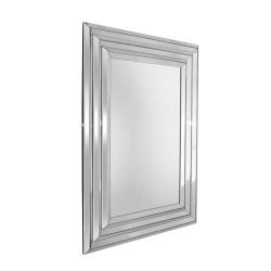 Leone- prostokątne lustro dekoracyjne w załamującej światło ramie.