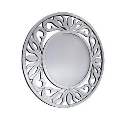 Strozzi- okrągłe lustro dekoracyjne w ramie lustrzanej