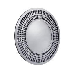 Marzano to okrągłe, ażurowe lustro w stylu Glamour o niezwykle dekoracyjnej ramie.