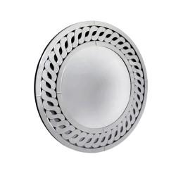 Barletta- okrągłe ażurowe lustro dekoracyjne w ramie lustrzanej