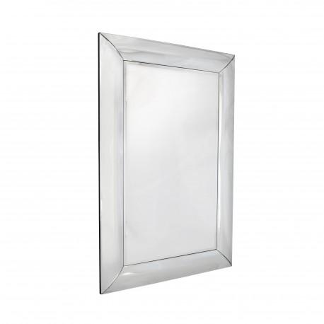 Bergamo - prostokątne lustro w zaokrąglonej, lustrzanej ramie