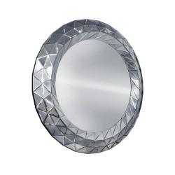 Como - okrągłe lustro dekoracyjne w lustrzanej ramie