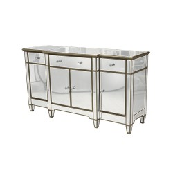 Granda Antic Silver - lustrzana komoda w stylu Glamour