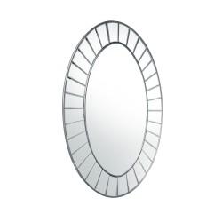 Pico- owalne lustro dekoracyjne w lustrzanej ramie