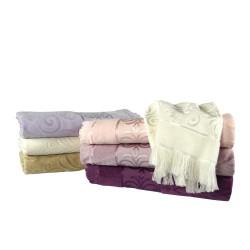 Strzępiony ręcznik żakardowy 3 rozmiary