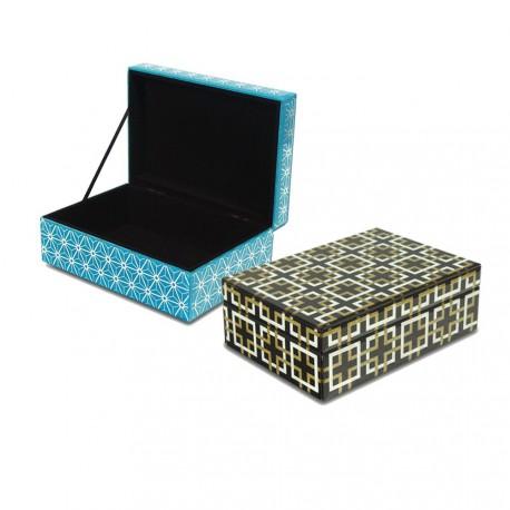 Szklane szkatułki na biżuterię