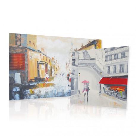 Obrazy olejne z motywem miejskim
